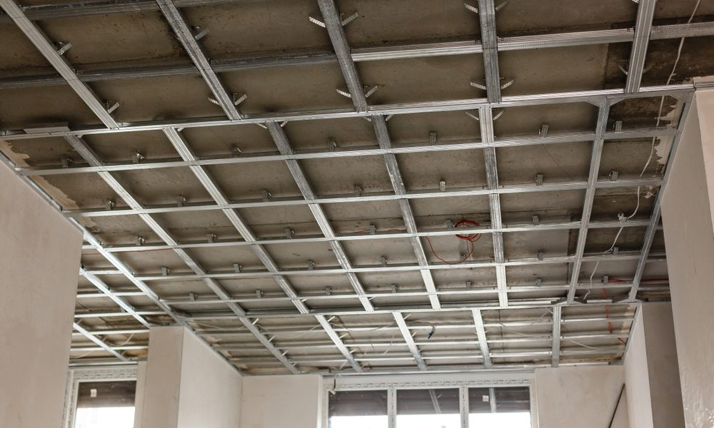 Suspended Ceilings - Metal frame Ceiling - complete interior services
